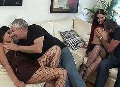 Amateur couple that is mature are being filmed