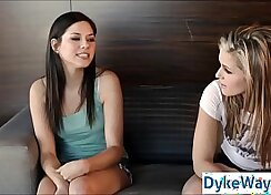 Beautiful first time lesbians