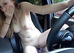 Busty Girl Masturbating in the Tub