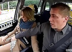 Blonde hooker from Russia gets fucked by fake taxi driver