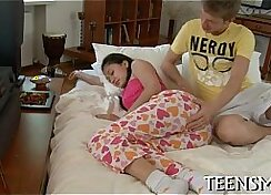 Classy teen fisted and fucked hardcore by horny trio of nymphos