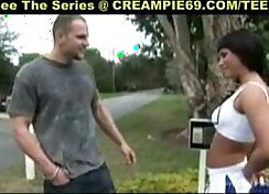 Cheerleader Prego Ride Her Power BI And Banged By Security Officer