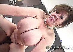 Appetizing cougar Dillion Elric fucks her heatine big black cock