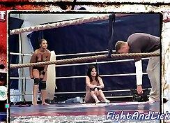 Candice & Kendra in lesbian wrestling