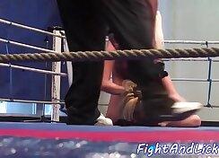 Amazing amateur exotic lesbian wrestling