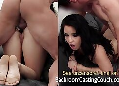 Hot amateur first anal on casting couch