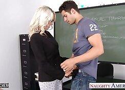 Blonde Schoolgirl Fucks Tutu Bodysuit Teacher with a Hard cock