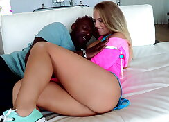 Sweetness gets fucked by a huge ass black hard long cock