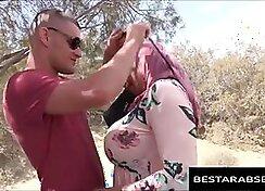 Anal toying her stunning Arab girlfriend