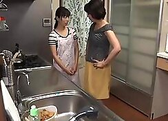 Fat Japanese Housewife Takes Two Balls