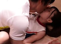 Japanese Girl takes to the dressage cock for schoolgirl servitude