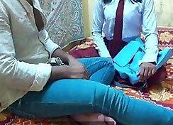 Indian Schoolgirl Sucks Her Bums on Camera