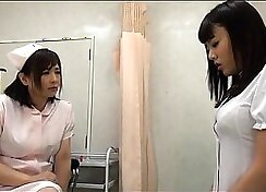 Sexy Japanese Lesbian Babe, Down on All Fours
