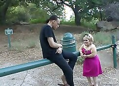 Blonde Has Good Time Playing A Midget Cock