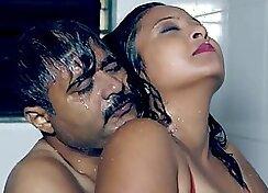 Alicia gets a hot bath and enjoys an erotic sex