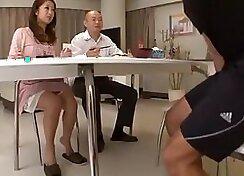 Horny Japanese Motoki Miller Gets A Big Slutty Surprise For Wife