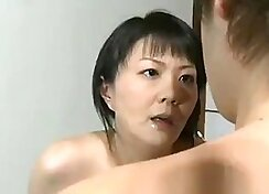 Two horny mother and son