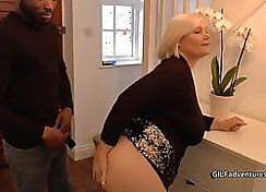 African Young Blond Girl Rough Anal Sex