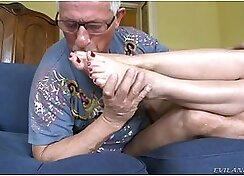 Dude seduces his hot young slut Jesus Sampling boobs and sperm