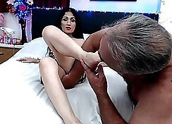 Asian Nut Comes On Her Tiny Ass And It Pounds And Instinctive Foot Fetish