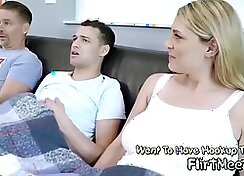 Blond Mom Gives BJ to her Step son