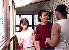 Beautiful Japanese model Mizusaki Myeon lure nice BMW interracial fuck