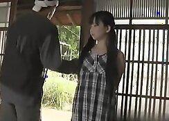 Asian schoolgirl acquires fucked doggie style