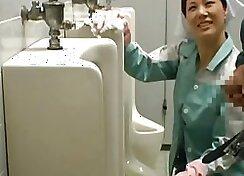 Asian Doll Fucked in public toilet