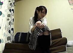 Asian Schoolgirl Lushes For Cock With Beard