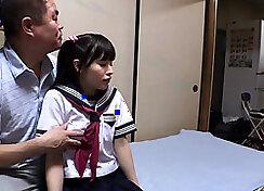 Cute teen cumshot in her school uniform