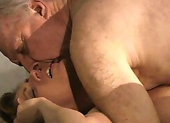 Russian babe in the garage with Grandpa