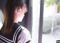 Petite teen schoolgirl pissed