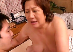 Asian curious granny pussay fucked at most
