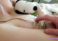 Brother and sister fingering and playing