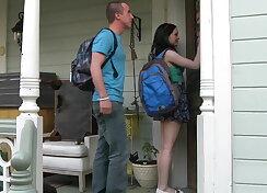 Meeting their teacher at her house