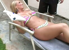 Blond mom fucking her step son