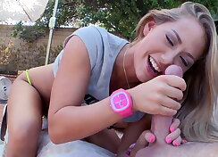 Sexy Blonde whore gets her anal pounded