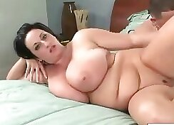 Chubby Cougar fucks young girl