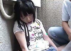 Beautiful petite teenage girl gagging in clothes - AmateurXpl