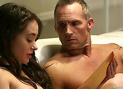 Stepdaughter gives her stepdad a treat in HQ when she eats her mouth and fuckedrocksheer.co
