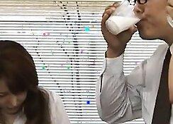 Hot hot milky bus driver asian boss spunk