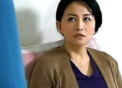 Asian milf having hardcore sex on the couch