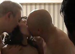 Wife feels shy while husband fucks Holly Fixt and Alex Hood