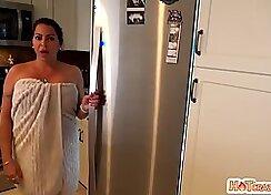 Big ass latina milking the camera