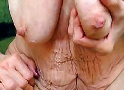 Amateur granny feet tickle